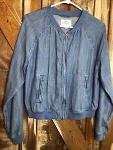 American Eagle Womens Cotton Denim Jacket Full Zip  Sz M