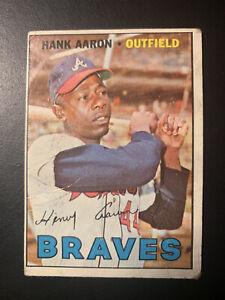 1967 Hank Aaron #250 HOF Atlanta Braves (creases) Filler.  *CYBER*