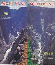 Montrose County Colorado Vintage Travel Brochure Color Photos Locator Map