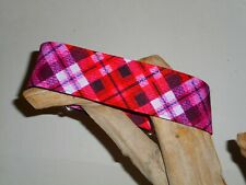 Mad for Plaid Red Custom Made Martingale Dog Collar - 2 Inch, 1 1/2 Inch, 1 Inch