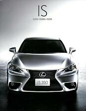 2013 LEXUS IS BROCHURE PROSPEKT CATALOG JAPANISCH