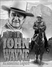 "John Wayne An American Legend Western Saddle Rifle Gun 12.5"" X 16"" Metal Sign"