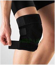 Large Black Neoprene Velcro Closure Adjustable Knee Patella Support Brace Pain
