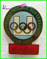 Pin's pins Badge Coca Cola Jeux Olympique Pays Oslo 1952 #H3