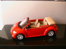 VW NEW BEETLE CABRIOLET 2003 ROT UNI AUTOART 59757 1/43 VOLKSWAGEN ROADSTER RED