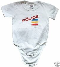 Official THE POLICE Body Strampler Shirt Weiss Size 92 Etikett 24 Monate 2 Jahre