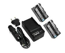 Refuelergy baterías x2 + Cargador para Neewer CN-160 LED Luz de Video