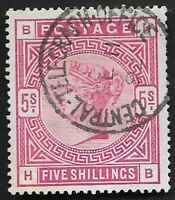 GB 1884 QV SG180 5s Rose HB Good Used High Value CV £250+