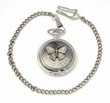 Butterfly Small Pocket Quartz Watch Gift Boxed FREE ENGRAVING 052
