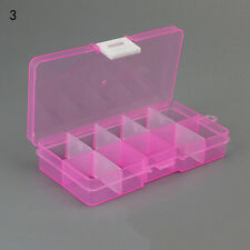 Plastic 10X lots Adjustable Jewelry Storage Box Case Craft Organizer Beads FG