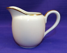 HUTSCHENREUTHER CHINA IVORY CREAMER IN TURVEL SHAPE GOLD TRIM SELB BAVARIA