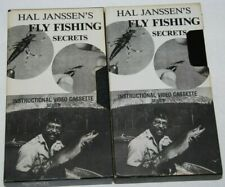 Fly Fishing Secrets Hal Janssen Vhs Tape Series Lot of 2 Dry Fly Wet Fly Nymph