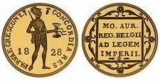 Zilveren Proof replica -  Gouden Dukaat 1828 U .925 zilver, 10 gram
