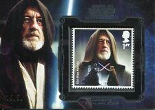 Star Wars Masterwork 2016 Silver Royal Mail Stamp Card [50] Obi Wan Kenobi