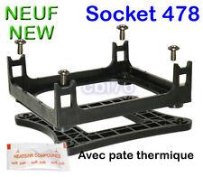 Support de fixation ventirad pour carte mère socket 478 +contreplaque +vis +pate