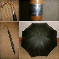 Vintage Swaine & Adeney Wax Canopy Gents Large Umbrella With Treen Crook Handle