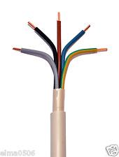 NYM-J 5x10mm² Mantelleitung Meterware grau Installationsleitung Feuchtraumkabel