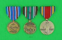 3 WWII Medals - European Campaign with star, American Theater, Victory  EAME