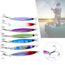 Lot 7pcs Metal Fishing Lures Baits Crankbait Sea Fish Hooks Tackle 6cm/14g KJ