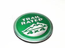 1Pcs For Wrangler Aluminum Green Trail Rated 4X4 Sticker Emblem Car Body