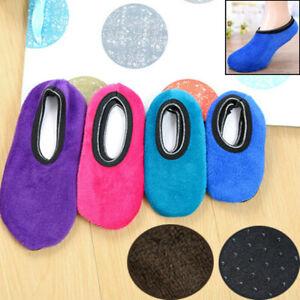 Women/Men Soft Non-slip Elastic Thicken Warm Home Floor Slippers Bed Ankle Socks