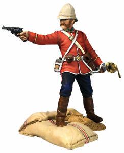 """William Britains Zulu War """"Getting a Little Close!"""" Officer Firing Pistol 20190"""