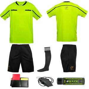 Football Referee Kit Shirt Shorts Socks Uniform Fox 40 Whistle Spray Cards