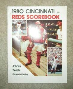 1980 Cincinnati Reds Scorebook Autographed Johnny Bench