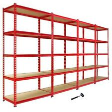 4 Heavy Duty Shelving Racking Garage 5 Tier Storage Units Metal Shelves Bays