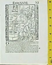 Duerer,Ship of Fools,Woman watches fools at a well,insect plague,Woodcut,1511
