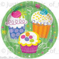 CUPCAKE Summer Garden BBQ Girls Birthday Party Tableware Plates Napkins Cups