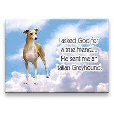 ITALIAN GREYHOUND True Friend From God FRIDGE MAGNET