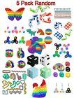 5 Pack Sensory Fidget Toys Set Tools Bundle Stress Relief Simple Bubble Hand