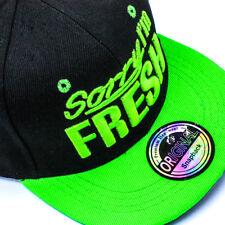 Cappy Cap Basecap Snapback Schirmmütze Kappe flach Sorry Im Fresh Schwarz  grün 3517c2dffc