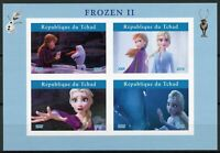 Chad Disney Stamps 2019 MNH Frozen 2 Elsa Olaf Cartoons Animation 4v IMPF M/S I