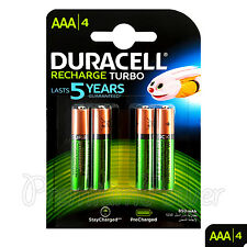 4 x Duracell Rechargeable AAA batteries 850 mAh NiMH LR03 HR03 ACCU DX2400 phone