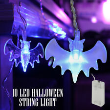 Halloween LED Battery String Fairy Lights Scary Vampire Bats Spooky Decoration