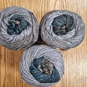 Eylul Super Chunky Yarn Cake Knitting Crochet 3 x 150g Cake, wool acrylic, Earth