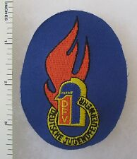 GERMAN YOUTH FIRE PATCH COLD WAR Vintage ORIGINAL DEUTSCHE JUGENDFEUERWEHR