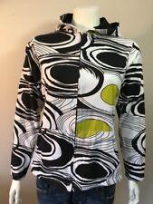 Parsley & Sage Hoodie - Black White Green Swirl SZ Small W/ Black Lining, Zip Up