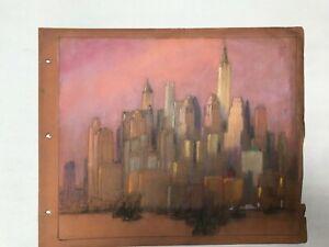 Original Pastel Painting Drawing F Usher Devoll New York Listed Artist Antique