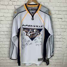 Men's NWT Reebok Nashville Predators (XL) Team Autographed NHL Hockey Jersey