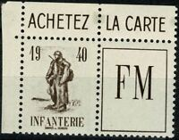 FRANCE 1940 FRANCHISE MILITAIRE YT n° 10A neuf ★★ luxe / MNH