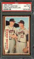 1962 TOPPS #211 MIDWAY MASTERS BOLLING/MCMILLAN PSA 8 NICELY CENTERED *CG1258