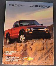 1996 Chevrolet S-10 Pickup Truck Brochure LS SS ZR2 Excellent Original Canadian