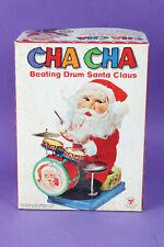 Vintage Cha Cha Beating Drum Santa Claus. SON AL TOYS SA-140L