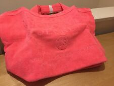 NEW Genuine VICTORIA'S SECRET Pink Terry Towel Gym Bag - Gym Large