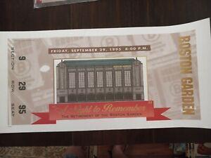 Boston Garden Commemorative Ticket Lithograph Stadium Give Away Celtics Bruins
