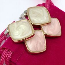 Unique Yellow Gold Plated White and Pink Earrings Women Birthday Jewelry Gift
