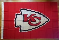 Kansas City Chiefts NFL 3'x5' Indoor Outdoor Flag Pennant With Brass Metal Hole